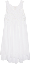 Emamo Sleeveless cotton-voile macramé dress