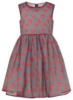 Rachel Riley Black Micro Check and Heart Print Dress