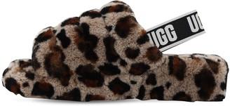UGG 40mm Fluff Shearling Flat Sandals