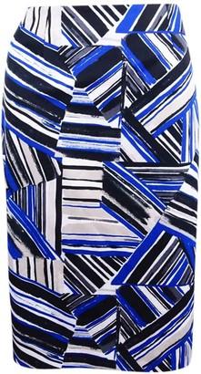 Kasper Women's Abstract Printed Straight Skirt