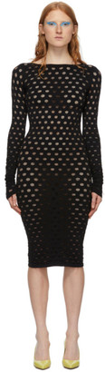 MAISIE WILEN Black Perforated Dress