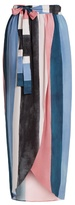 Mara Hoffman Farrah block-print crinkled-crepe wrap skirt