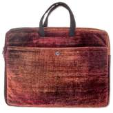 Bamboo chenille and cotton laptop case (14 inch), 'Iridescent Lands'