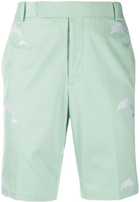 Thom Browne Embroidered Dolphin Chino Shorts