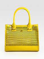 Tory Burch Mini Georgiana Patent Leather Tote Bag