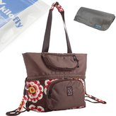 KF Baby Large Dual Use Diaper Shoulder Bag Backpack + Changing Pad Value Combo