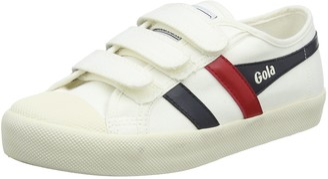 Gola Women's Coaster Velcro Trainers Off-White (Off White/Navy/Red Wx) 6 UK 39 EU
