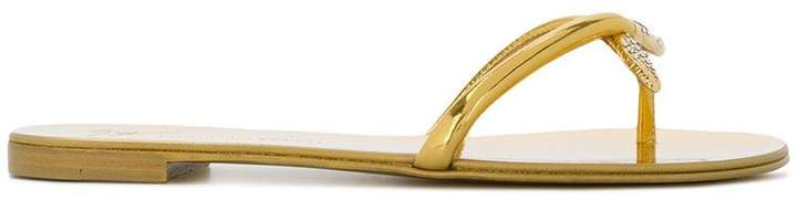 Giuseppe Zanotti Design serpent flip flops