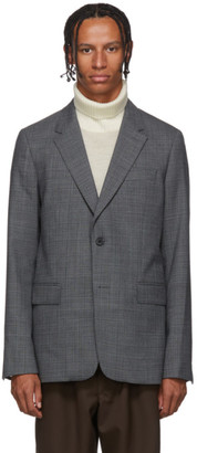 Ami Alexandre Mattiussi Grey Two-Button Blazer