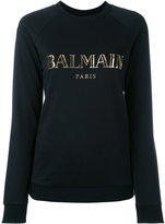 Balmain logo-print sweatshirt - women - Cotton - 34