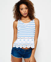 Superdry Shore Broderie Shell Top