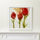 Crate & Barrel Three Tulips Print
