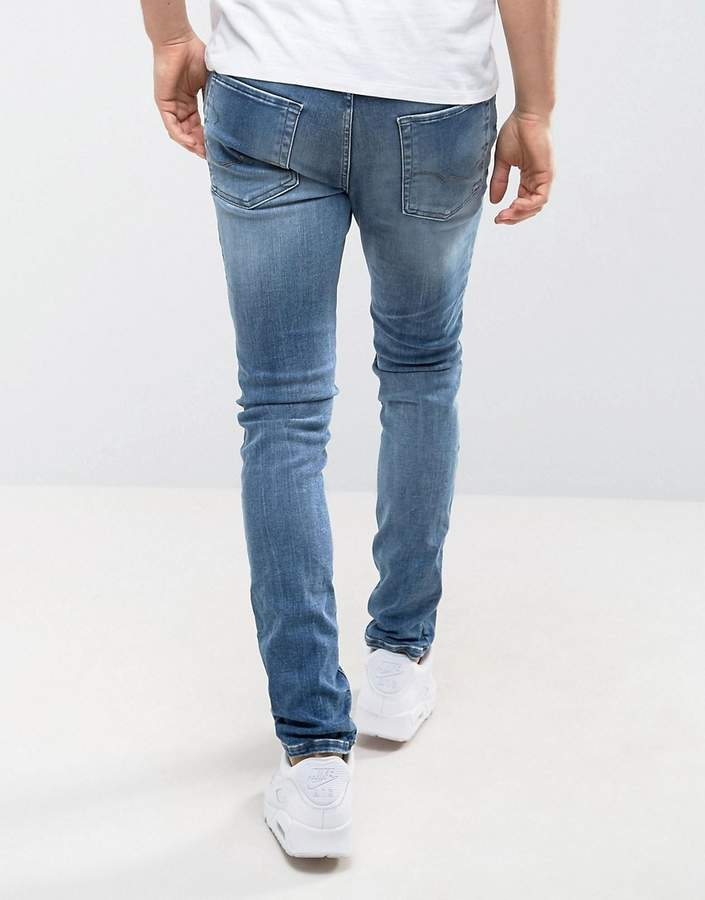 Jack and Jones Intelligence Skinny Fit Jeans In Blue