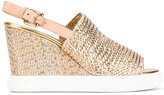 Casadei espadrille wedge sandals - women - Calf Leather/Polyurethane/rubber - 40