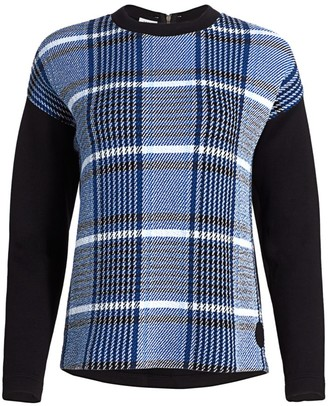 Akris Punto Plaid Jersey Sweatshirt