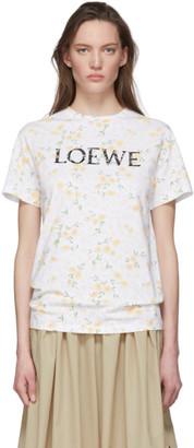 Loewe White Floral Logo T-Shirt