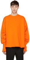 Christian Dada Orange Oversized Bomber Sweatshirt
