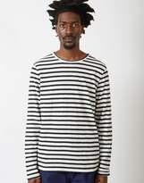 Nudie Jeans Co - Orvar Graphic Stripe T-Shirt Black & White