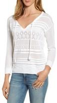 Tommy Bahama Women's Pickford Pointelle Split Neck Sweater