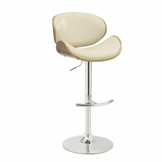 Latitude Run La Jolla Adjustable Height Bar Stool Color: Beige