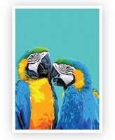 Design Mondo Kissing Macaws Art Print, A3