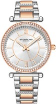 Stuhrling Original Women's Aria Two-Tone Silver Dial Watch
