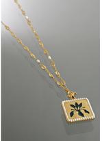 'Emma' gold floral pendant necklace