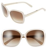Kate Spade Women's 'Darrilyn' 58Mm Butterfly Sunglasses - Beige