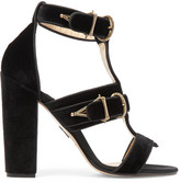 Paul Andrew Aslihan Velvet Sandals - Black