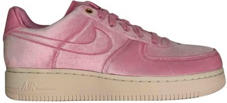 Nike Force 1 Pink Suede Trainers