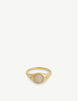 Missoma Gemstone gold-plated vermeil silver ring