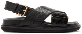 Marni Black Snake Fussbett Sandals