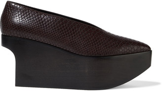 Stella McCartney Faux Snake-effect Leather Platform Pumps