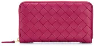 Bottega Veneta Intrecciato zip-around continental wallet