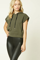 Forever 21 FOREVER 21+ Contemporary Drawstring Hood Top