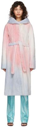 Saks Potts Multicolor Fur Robin Coat