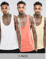 Asos Tank With Extrene Racer Back 3 Pack