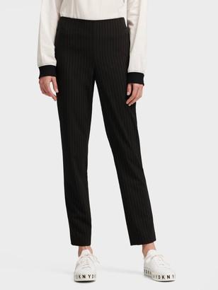 DKNY Pinstripe Straight-leg Pant