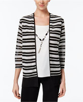 Alfred Dunner Petite Wrap It Up Layered-Look Necklace Top