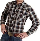 Roper Special Lurex Plaid Shirt - Snap Front, Long Sleeve (For Men)