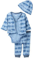 Offspring Bear Tracks 4-Piece Reversible Jacket Set (Baby Boys)