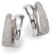 Roberto Coin Scalare Diamond & 18K White Gold Huggie Earrings