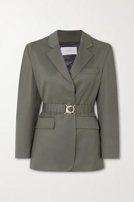 LVIR Belted Wool-twill Blazer - Army green