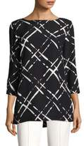 Escada Lattice-Print Top