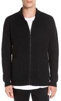 RVCA Men's 'Zig Zag' Waffle Knit Zip Shawl Collar Sweater