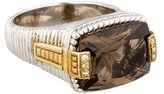 Judith Ripka Two-Tone Diamond & Smoky Quartz Ring
