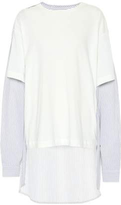 MM6 MAISON MARGIELA Dipped-hem cotton top