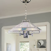 Dale Tiffany Dale TiffanyTM Blue Fused 3-Light Hanging Fixture