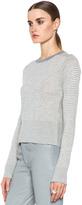 Acne Studios Lia Cash Stripe Sweater in Grey & Chalk