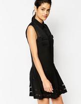 Frankie Morello Yerech Dress With Sheer Inserts